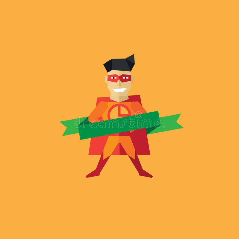 Vektor-Pizza-Mannlogo lizenzfreie abbildung