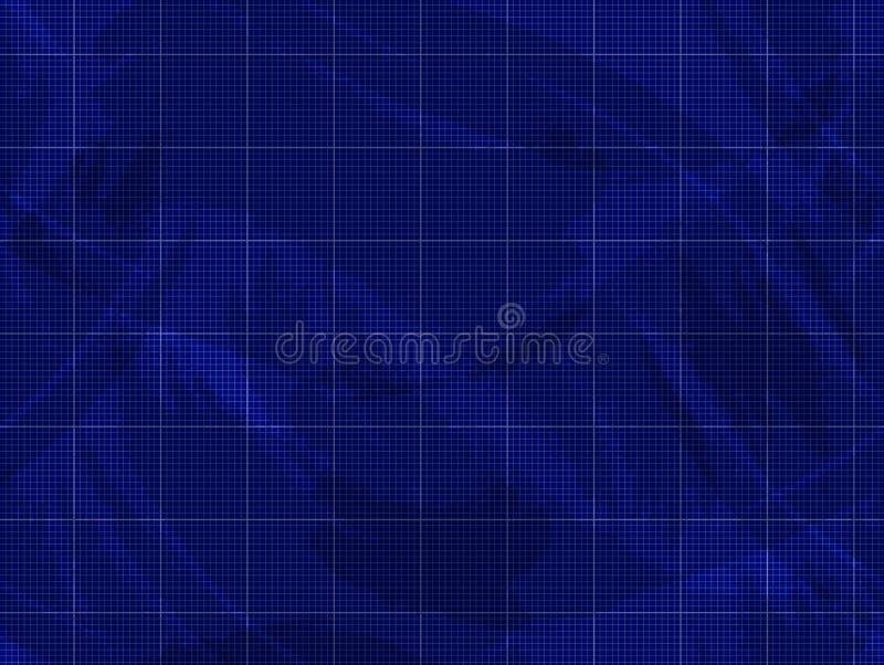 Vektor-Plan-Schmutz-Hintergrund, blaue Beschaffenheit, nahtloses Muster vektor abbildung