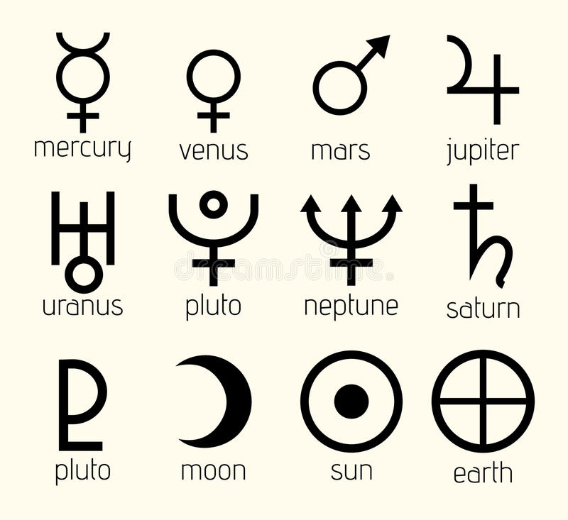 Astronomical Symbols For Planets