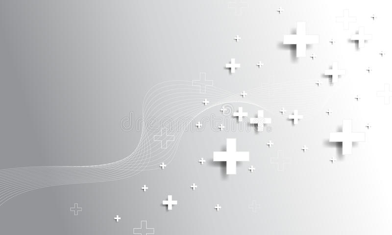 Vektor plus Symbolkonzepthintergrund vektor abbildung