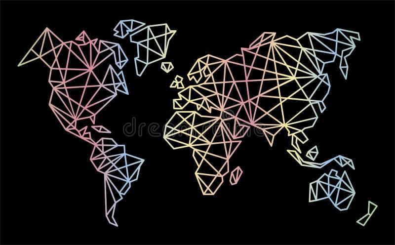Vektor-polygonale Weltkarte vektor abbildung