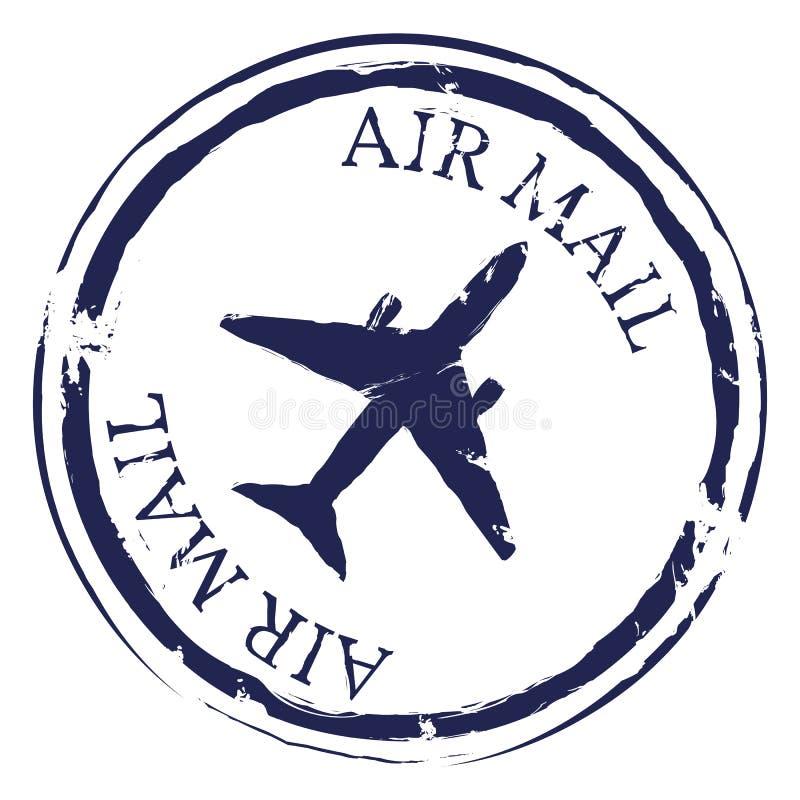 Vektor-Poststempel Luftpost lizenzfreie abbildung