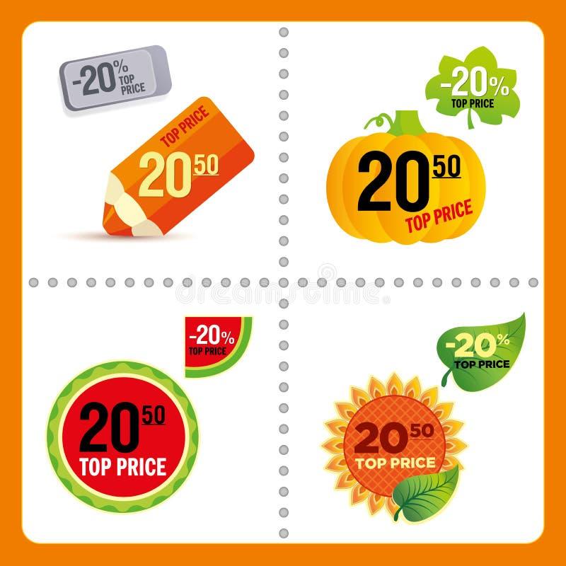Vektor-Preise lizenzfreies stockbild