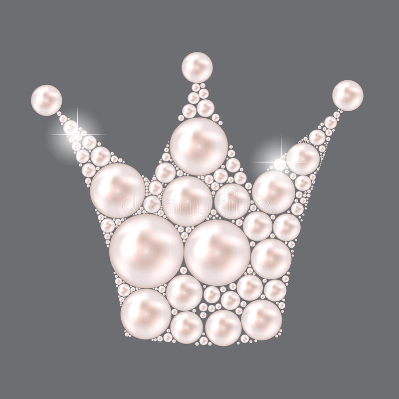 Vektor Prinzessin-Crown Pearl Background vektor abbildung