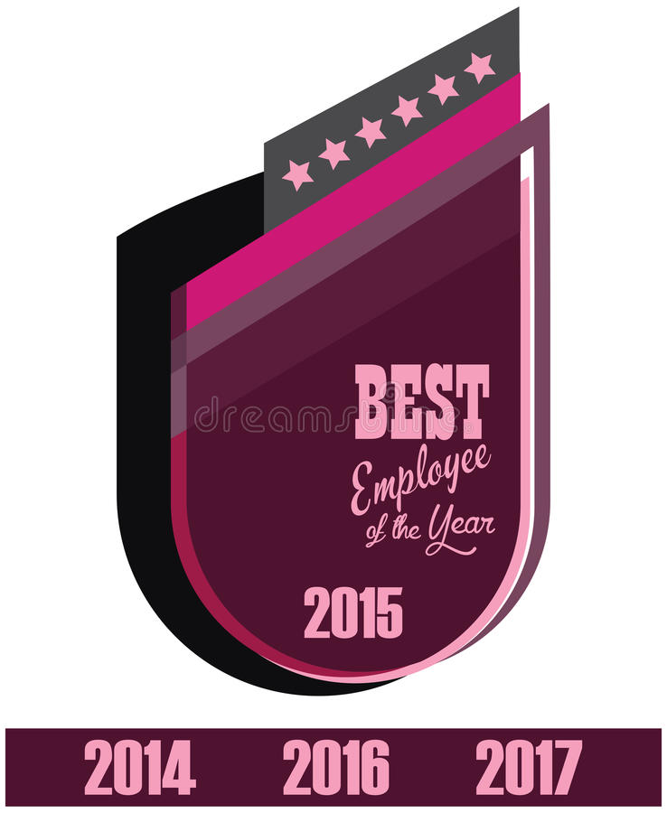 Vektor Promoaufkleber des besten Angestelltservice-Preises des Jahres stock abbildung