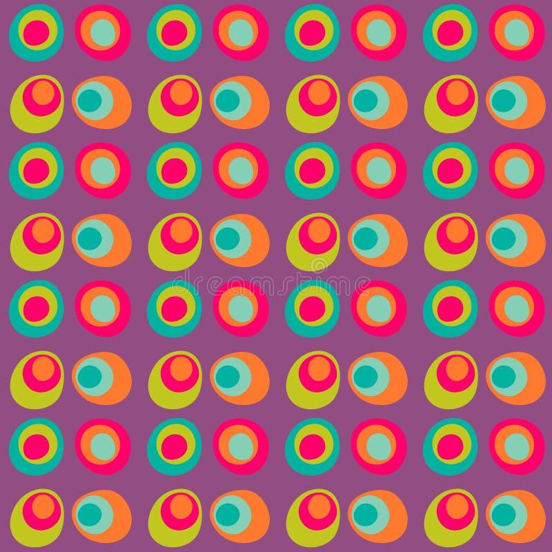 Vektor prucken sömlös modell för cirkel vektor illustrationer