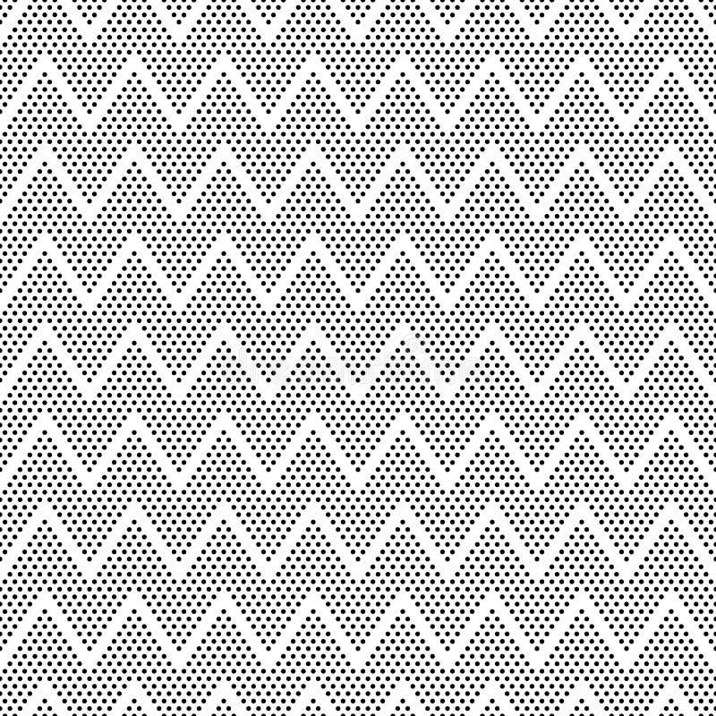Vektor punktiert symmetrisches nahtloses Muster stock abbildung