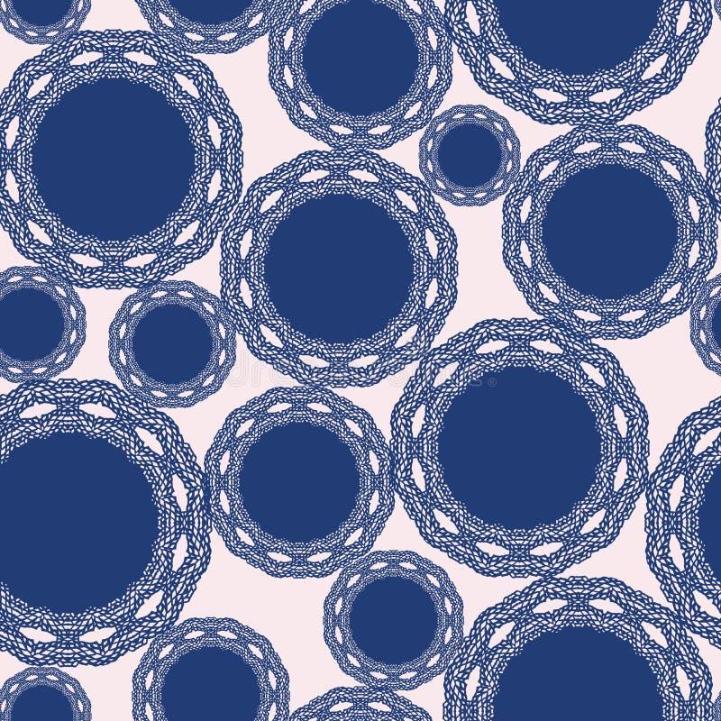 Vektor-Punktmuster des mutigen Spaßes nahtloses mit Spitzekreisen Oberflächenmusterentwurf für Gewebe, scrapbooking, Tapete stock abbildung