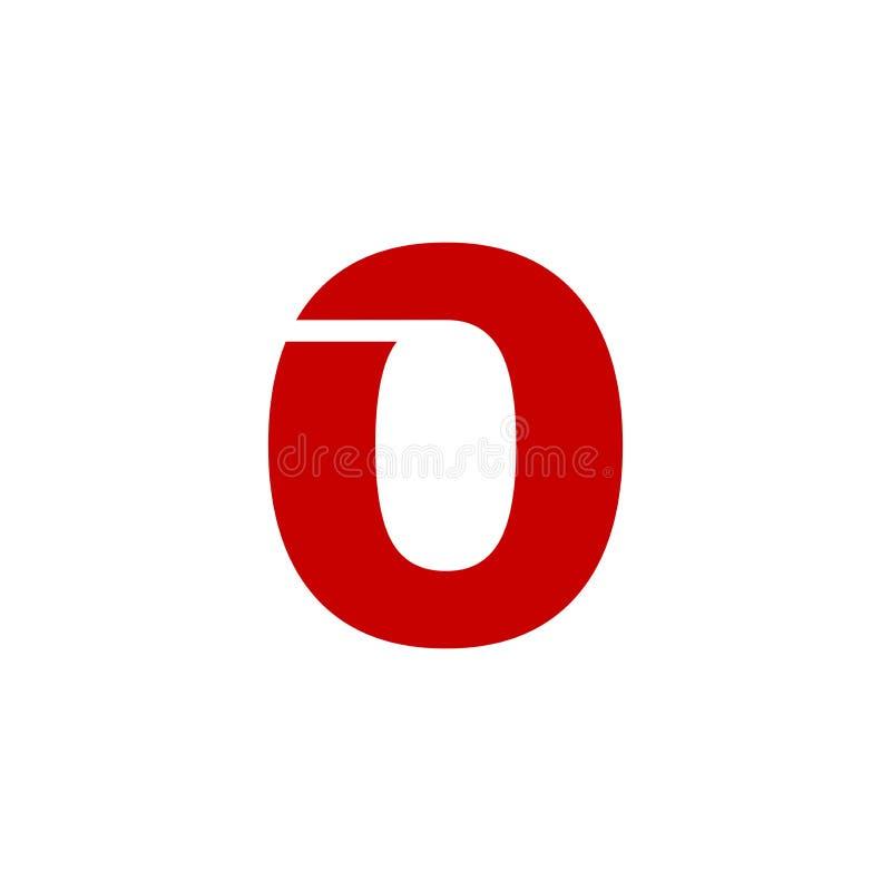 Vektor röda Logo Number 0 royaltyfri illustrationer