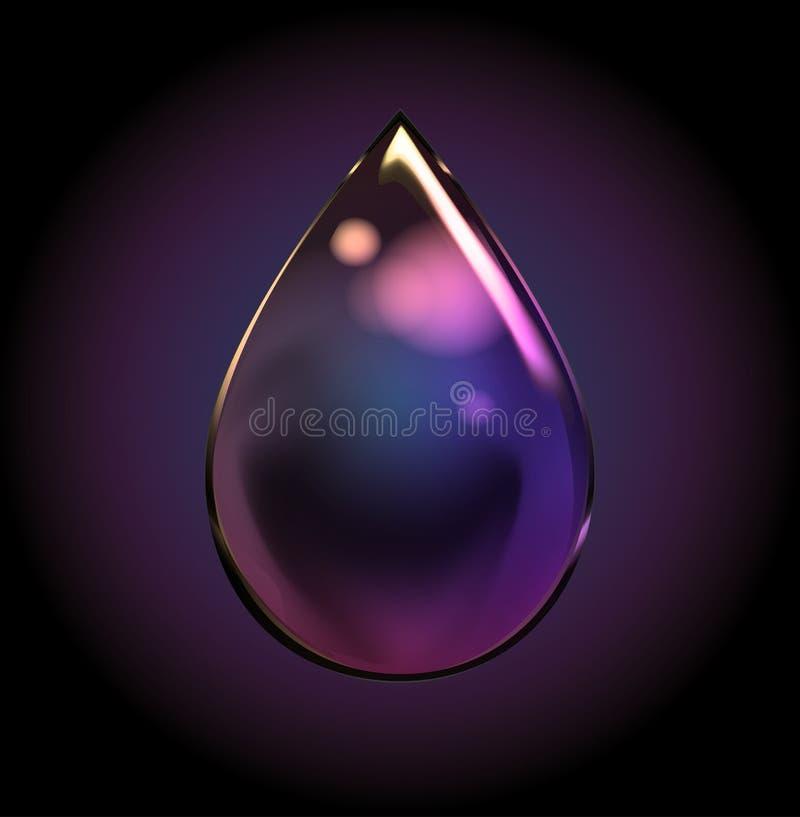 Vektor-Regenbogen-Wasser-Tropfen Transparentes lokalisiertes realistisches Design vektor abbildung