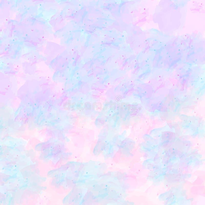 Vektor-Rosa-, Blaues und Purpurrotesaquarell masern abstrakten Hintergrund lizenzfreie abbildung