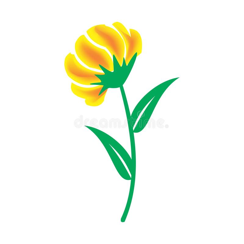 Vektor rosa del fiore nella pianta illustrazione di stock