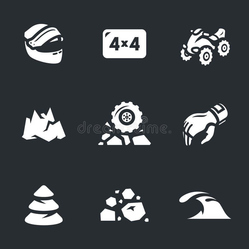 Vektor-Satz ATV-Ikonen stock abbildung
