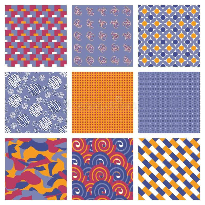 Vektor-Satz des geometrischen nahtlosen Musters stock abbildung
