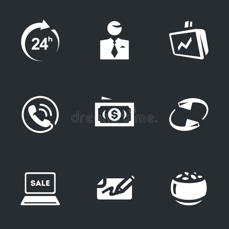 Vektor-Satz des Vermittlers Work Icons lizenzfreie abbildung