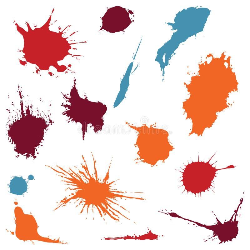 Vektor-Satz Farbstellen lizenzfreie abbildung