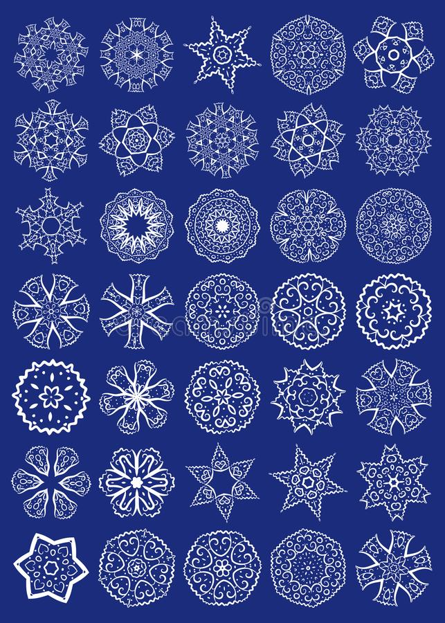 Vektor-Satz heilige Geometrie-Symbole stock abbildung