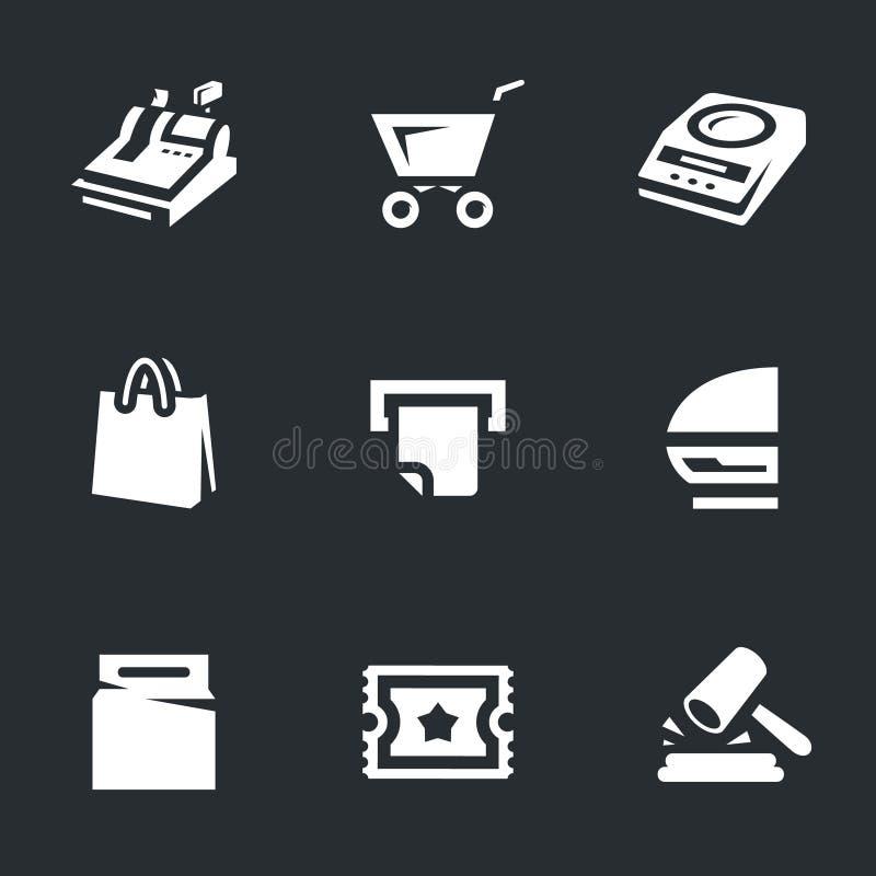 Vektor-Satz Shop-Ikonen lizenzfreie abbildung