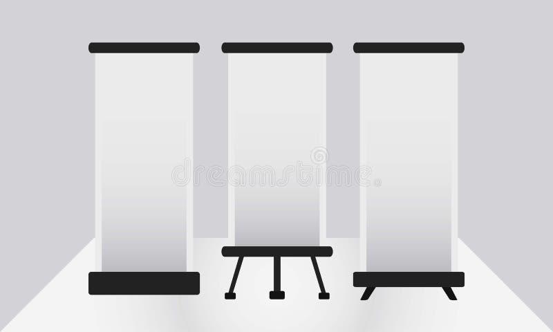 Vektor-Schablonen-X-Fahnen-Sammlung lizenzfreie stockbilder