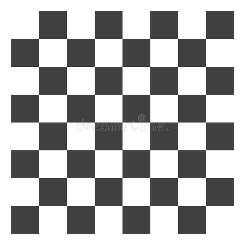 Vektor-Schach-Brett-Ikone lizenzfreie abbildung