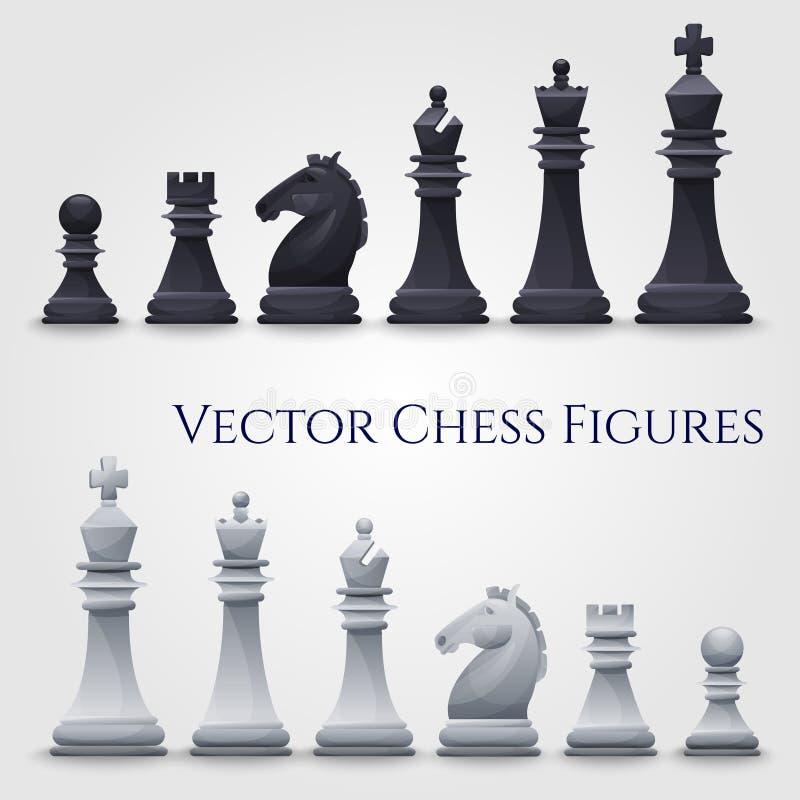 Vektor-Schach-Zahlen lizenzfreie abbildung