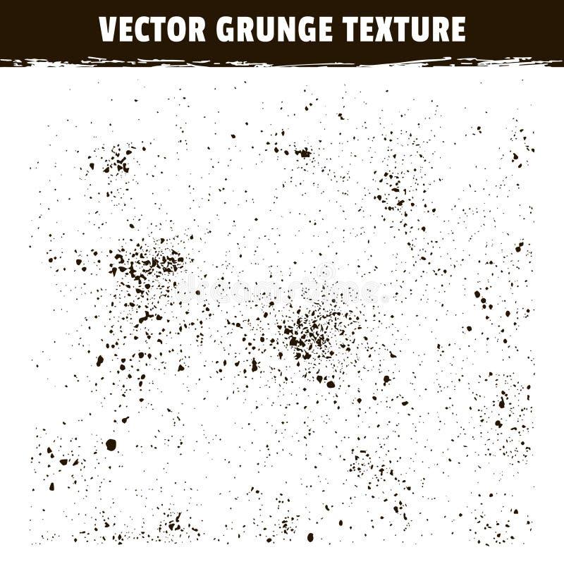 Vektor-Schmutzbeschaffenheiten des Kornes Geräusche beunruhigte stock abbildung