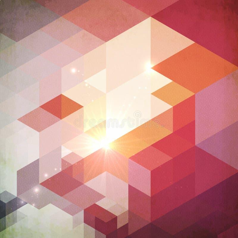 Vektor-Schmutzhintergrund der abstrakten Geometrie blauer lizenzfreie abbildung