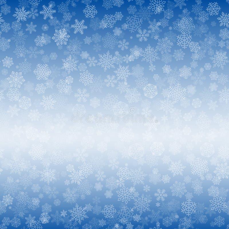 Vektor-Schneeflocken-Hintergrund für Weihnachten lizenzfreie abbildung