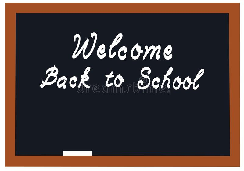 Vektor-Schultafel-Willkommen zurück zu Schulhintergrund vektor abbildung