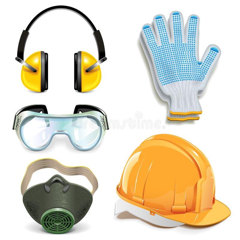 Vektor-Schutzausrüstung lizenzfreie abbildung