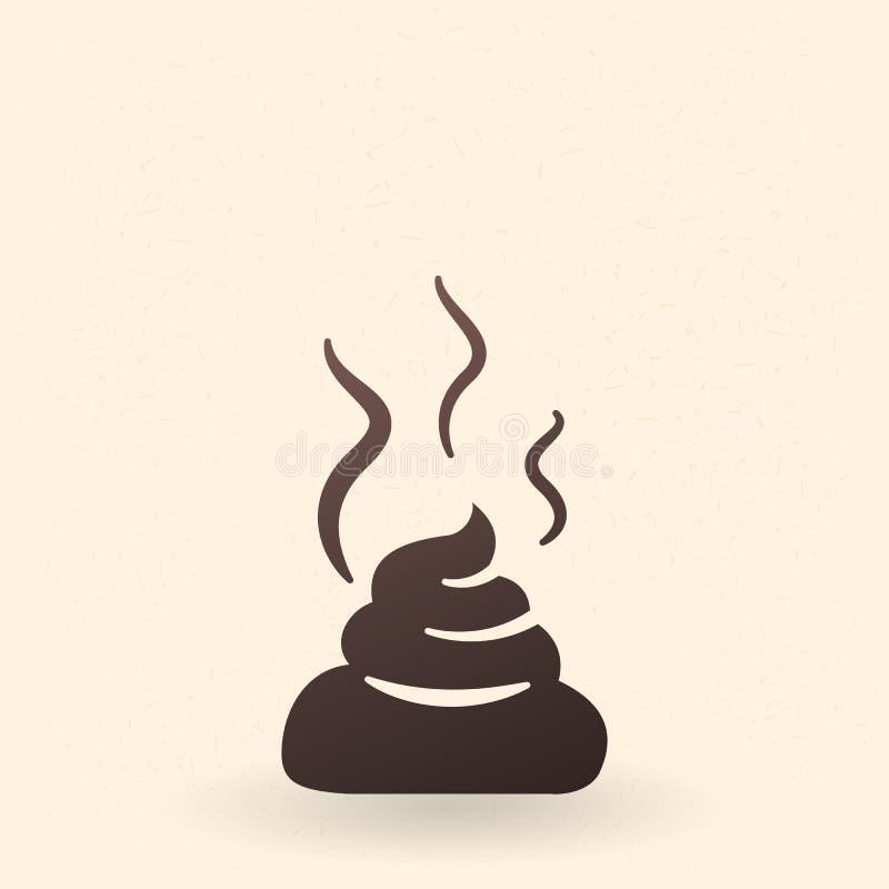 Vektor-schwarze Schattenbild-Ikone - das Stück von Scheiße stock abbildung