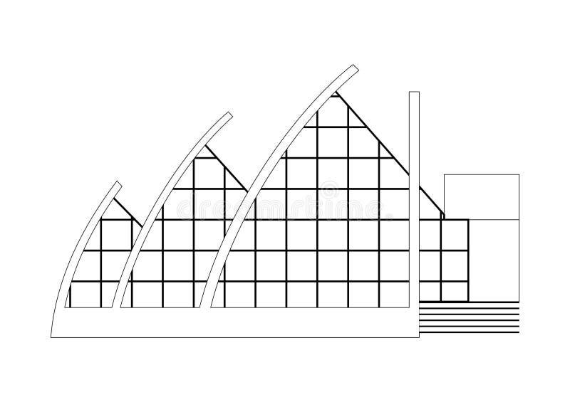 Vektor-Skizzen-Architektur-Bauvorhaben lizenzfreie abbildung