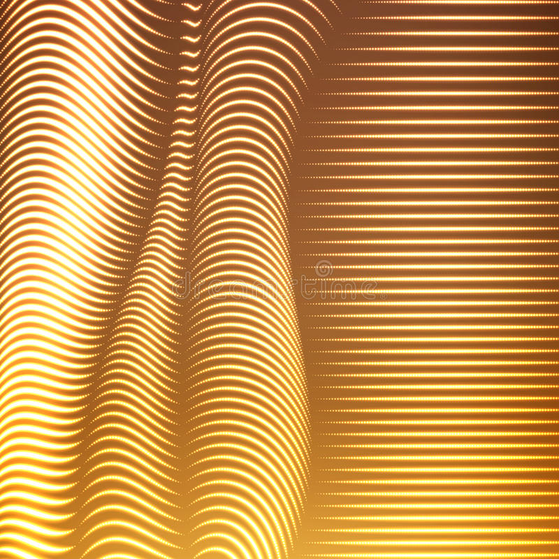 Vektor snedvred prack linjer bakgrund Böjliga band av skinande punkter som vrids som silke som bildar volymetriska veck royaltyfri illustrationer