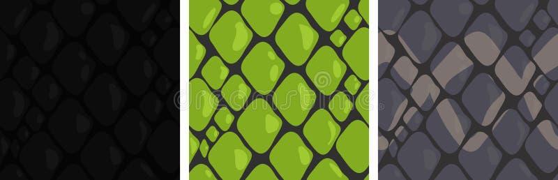 Vektor som är sömlös med olik hud för orm` s stock illustrationer
