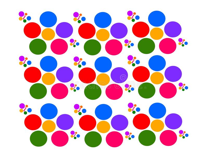 Vektor som drar blommor med mångfärgade fjärilar royaltyfri illustrationer