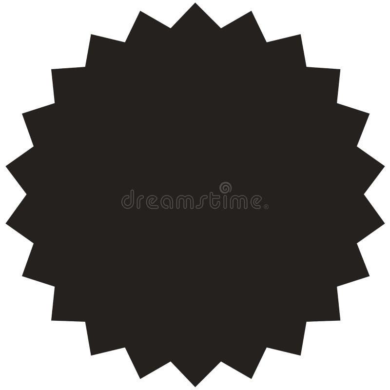 Vektor starburst, Sonnendurchbruchausweis Weinleseaufkleber, Aufkleber stock abbildung
