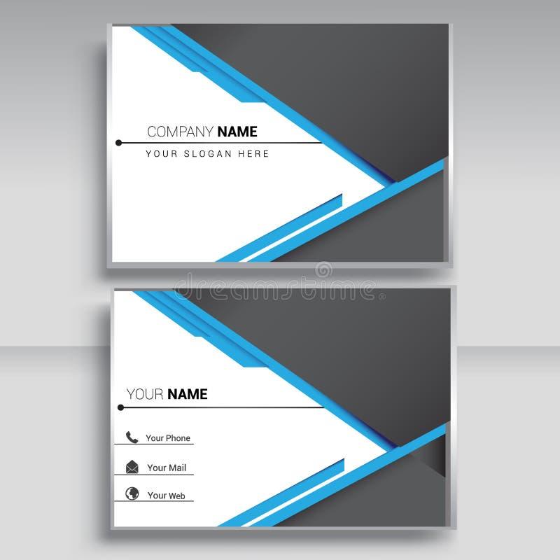 Vektor-stellte moderne kreative und saubere Visitenkarte, Schablone ein, stockbilder