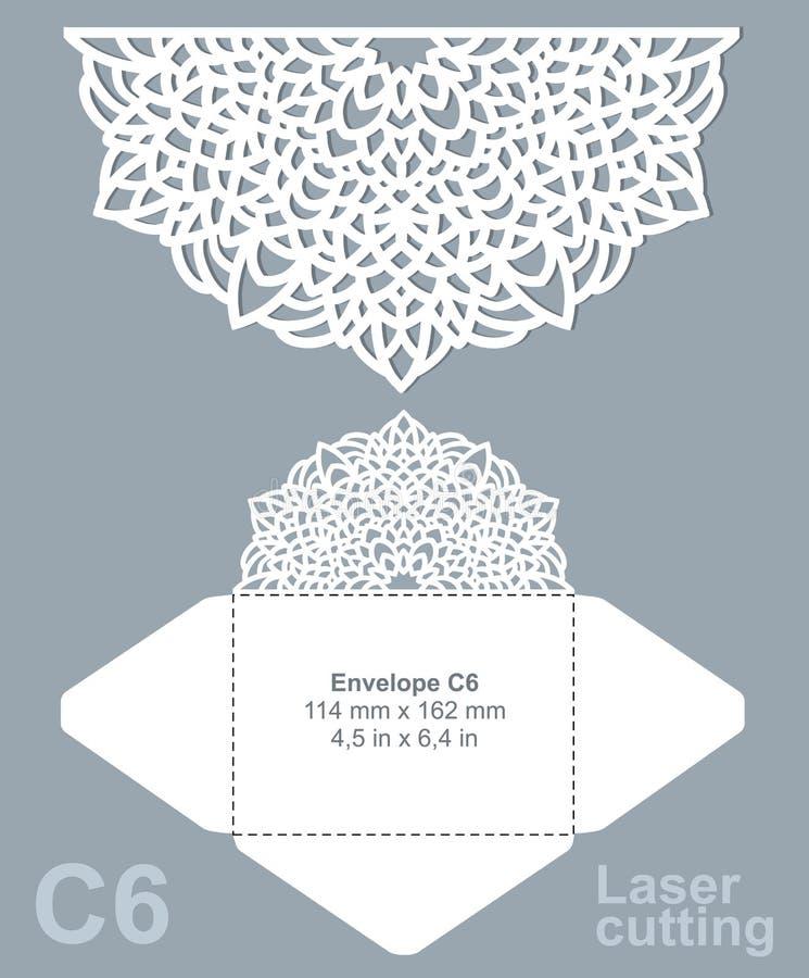 Vektor sterben Laser-Schnittumschlag vektor abbildung