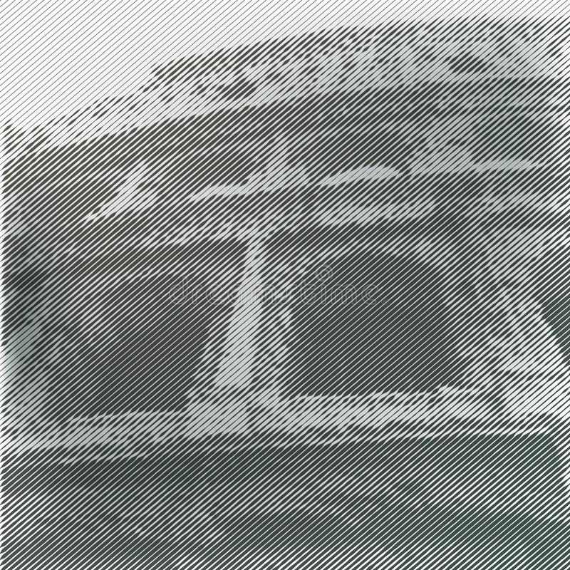 Vektor stiliserad Coliseumaffisch royaltyfri illustrationer