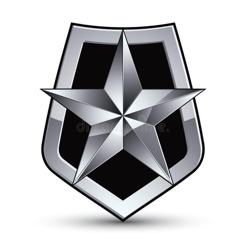 Vektor stilisiertes Symbol lokalisiert auf weißem Hintergrund bezaubernd stock abbildung