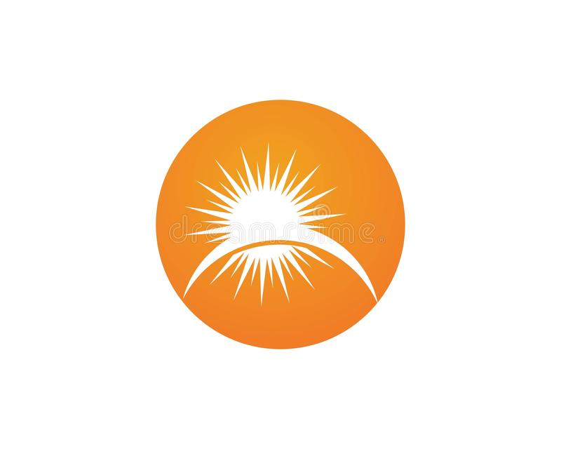 Vektor - Sun-Explosionssternikone stock abbildung