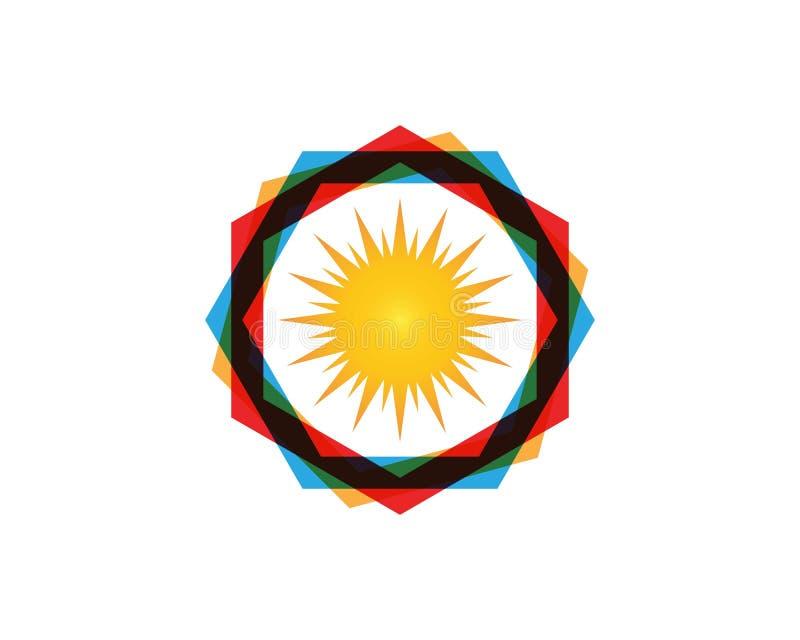 Vektor - Sun-Explosionssternikone lizenzfreie abbildung