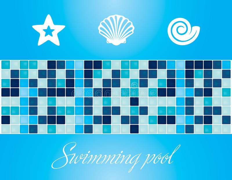 Vektor. Swimmingpoolelemente und -beschaffenheiten stock abbildung