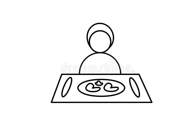 vektor Symbolsmatdesign Tecken av matställen Symbol av lunch Restaurangkaf?meny Logoillustration Man kvinna på matställetabellen vektor illustrationer