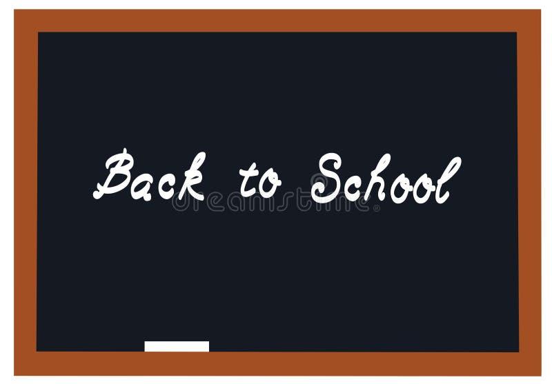 Vektor-Tafel zurück zu Schule stock abbildung