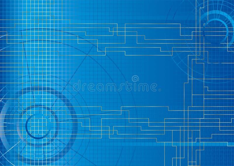 Vektor - teknisk bakgrund   arkivbilder