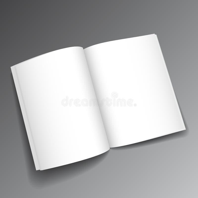 Vektor tidskrift öppnad mockup3 royaltyfri illustrationer