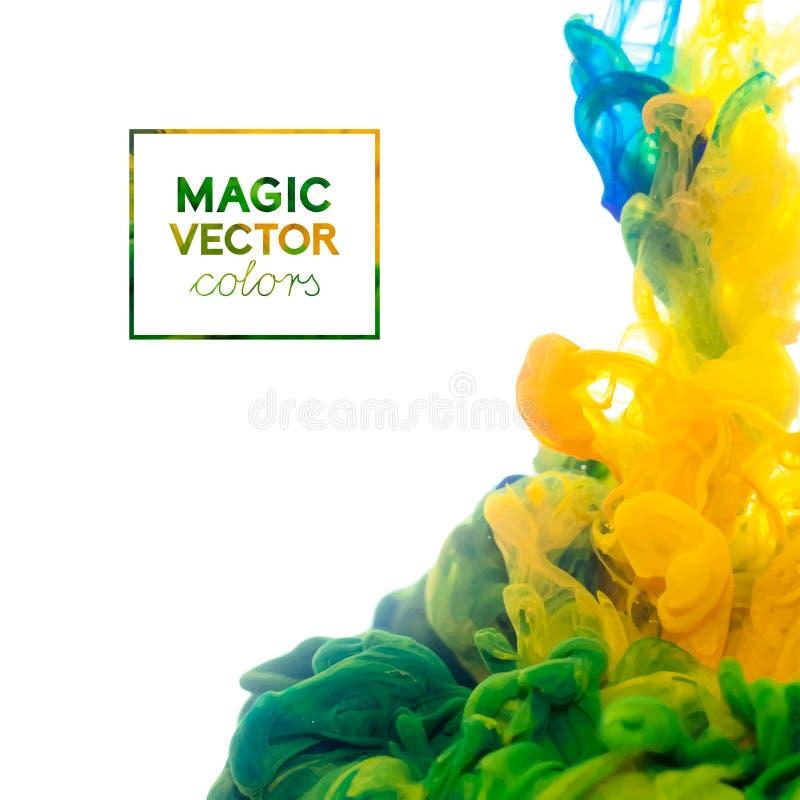Vektor-Tinte, die in Wasser wirbelt lizenzfreie abbildung