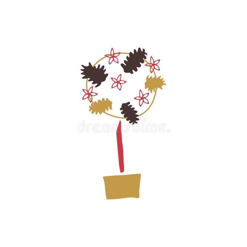 Vektor Topiarybaum stock abbildung