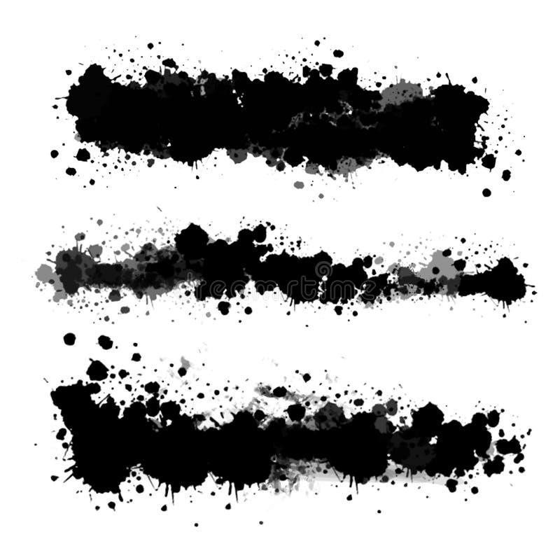 Vektor-transparente Flecken eingestellt lizenzfreie abbildung